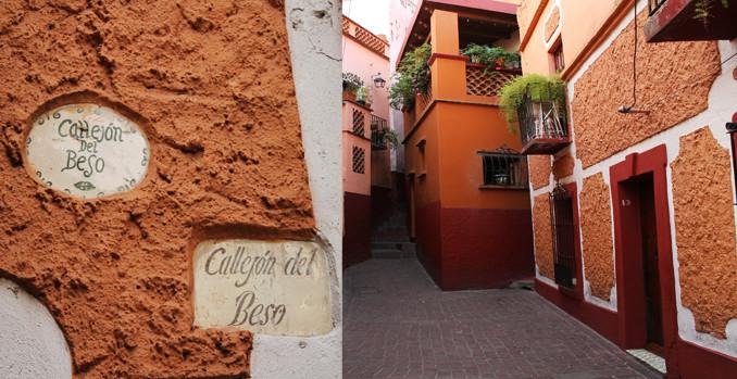 Callejón del Beso, de los lugares románticos en Guanajuato