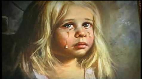 Los cuadros malditos de los niños llorones 1
