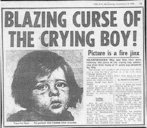 Los cuadros malditos de los niños llorones 4