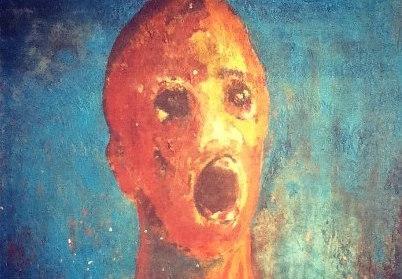 """La pintura embrujada del """"Hombre Angustiado"""" 1"""