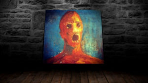 """La pintura embrujada del """"Hombre Angustiado"""" 2"""