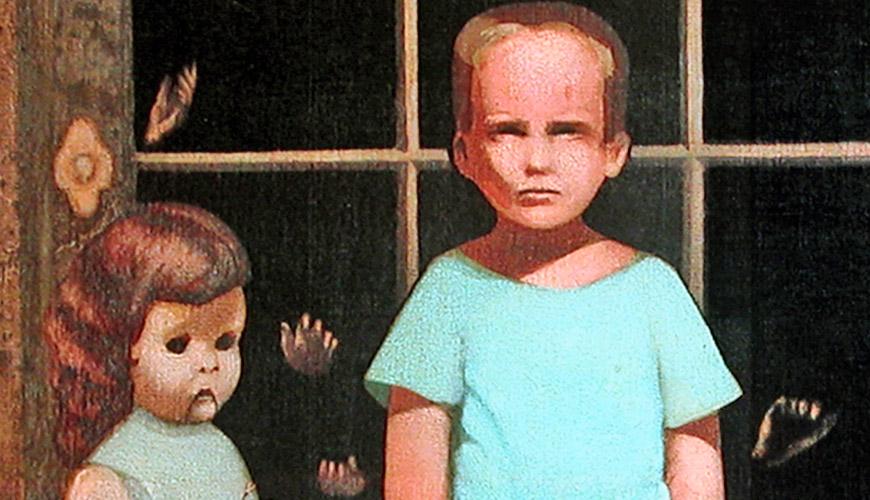 """La pintura embrujada de eBay """"Las manos lo resisten"""" 1"""