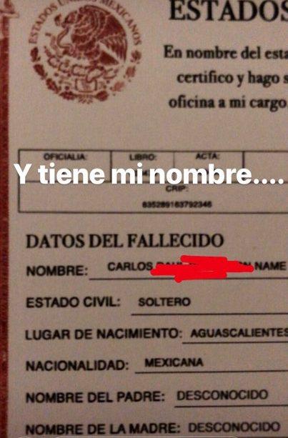 """El aterrador caso de """"Carlos Name"""" su historia 32"""